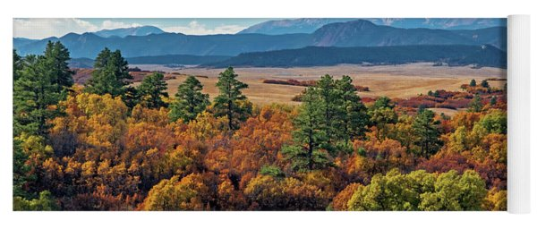 Pikes Peak Over Scrub Oak Yoga Mat