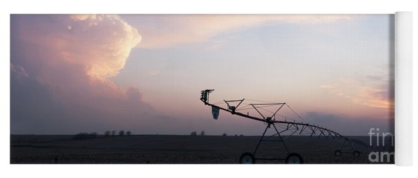 Pivot Irrigation And Sunset Yoga Mat