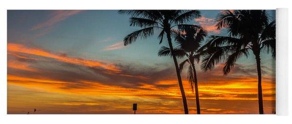 Poipu Beach Sunset - Kauai Hi Yoga Mat