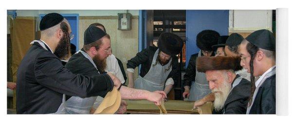 Preparing Matzah, Tel Aviv, Israel Yoga Mat