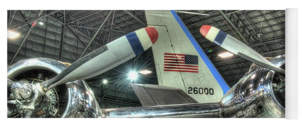 Presidential Aircraft - The Independence, Douglas, Vc-118 And Sam 26000  Yoga Mat