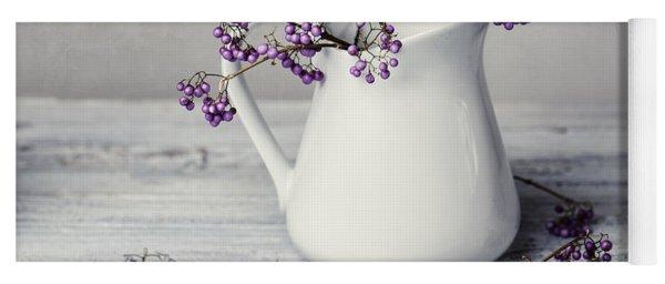 Purple Berries Yoga Mat
