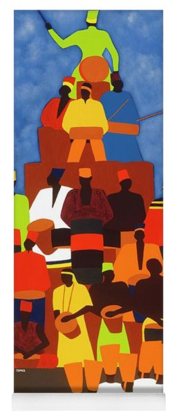 Pyramid Of African Drummers Yoga Mat