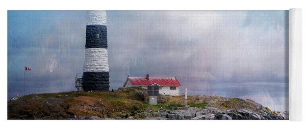 Lighthouse At Race Rocks Yoga Mat