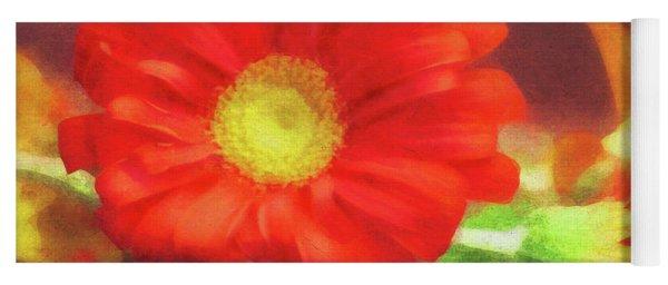 Red Flower Yoga Mat