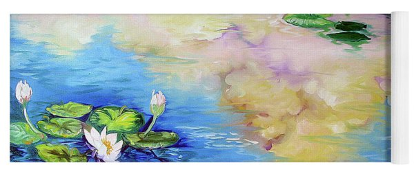Reflections On A Waterlily Pond Yoga Mat
