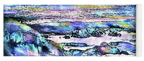 Rocks And Sea Yoga Mat