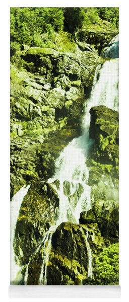 Rocky Mountain Waterfall Yoga Mat