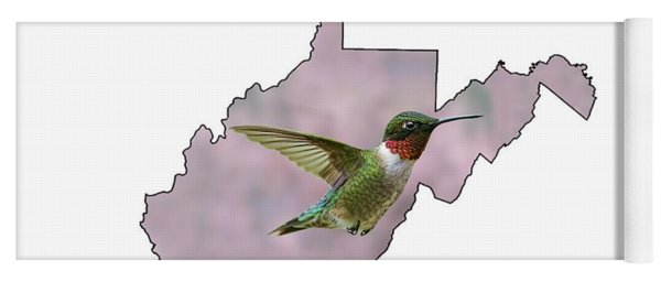Ruby-throated Hummingbird  Beautiful Coloring Yoga Mat