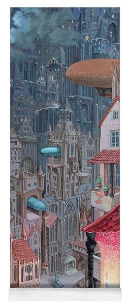 Saga Of The City Of Zeppelins Yoga Mat
