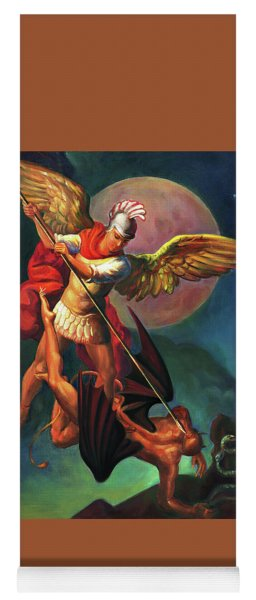 Saint Michael The Warrior Archangel Yoga Mat