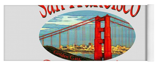 San Francisco California Design Yoga Mat