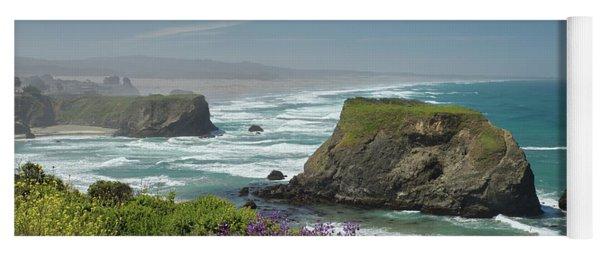 Sea Stacks And Surf Yoga Mat