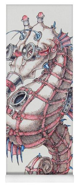 Seahorse In Steampunk Yoga Mat