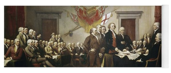 Signing The Declaration Of Independence Yoga Mat