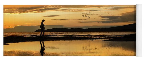 Silhouette In Sunset Yoga Mat