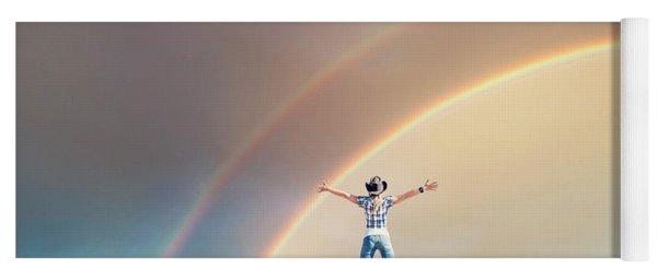 Sing Me A Rainbow Yoga Mat