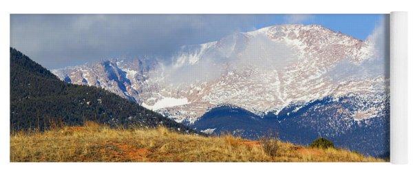 Snow Capped Pikes Peak Colorado Yoga Mat