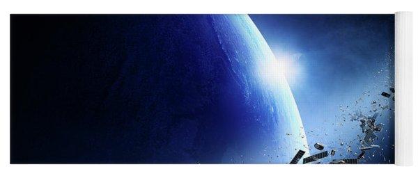 Space Junk Orbiting Earth Yoga Mat