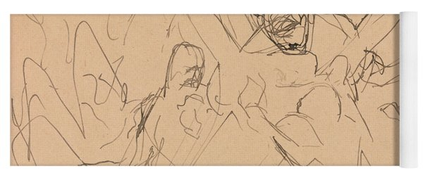 Study For Mourning Yoga Mat