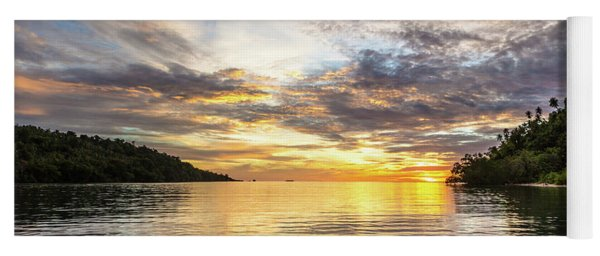 Stunning Sunset In The Togian Islands In Sulawesi Yoga Mat