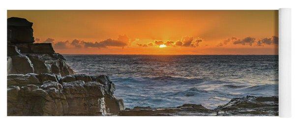 Sun Rising Over The Sea Yoga Mat