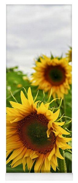Sunflower Field Yoga Mat