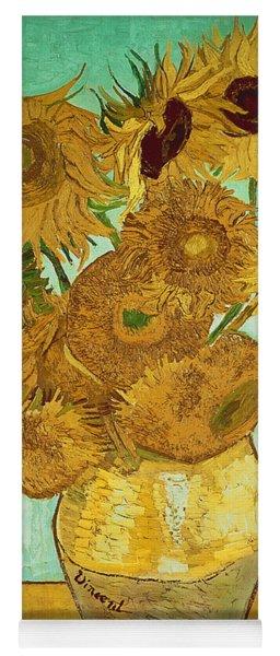 Sunflowers By Van Gogh Yoga Mat