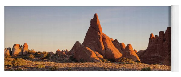 Sunrise In Arches National Park Yoga Mat