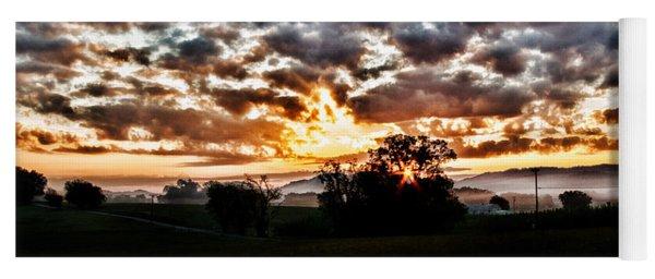 Sunrise Over Fields Yoga Mat