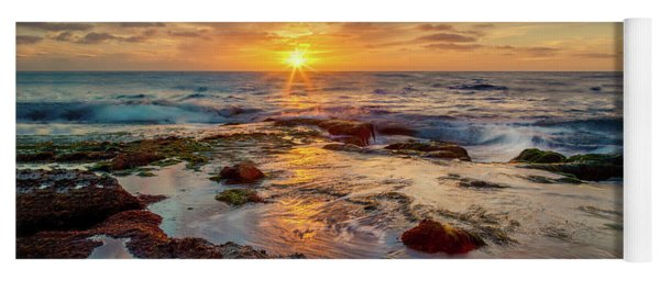 Yoga Mat featuring the photograph Sunset At La Jolla  by Rikk Flohr