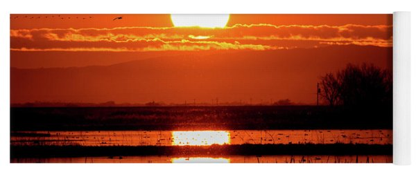 Sunset At The Refuge Yoga Mat