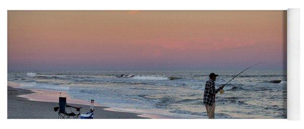 Sunset Fisherman Yoga Mat
