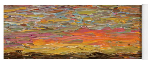 Yoga Mat featuring the painting Sunset by James W Johnson