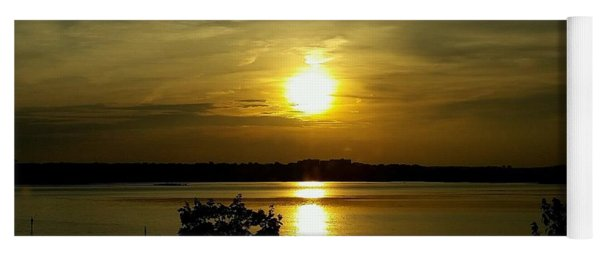 Yoga Mat featuring the photograph Sunset Over The Potomac by Jimmy Clark