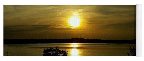 Sunset Over The Potomac Yoga Mat