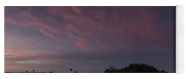 Sunset Over The Wetlands Yoga Mat