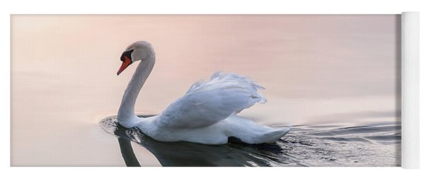 Sunset Swan Yoga Mat