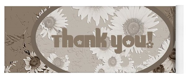 Thank You Card Daisies Yoga Mat