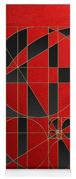 The Alchemy - Divine Proportions - Black On Red Yoga Mat