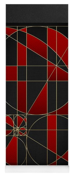 The Alchemy - Divine Proportions - Red On Black Yoga Mat