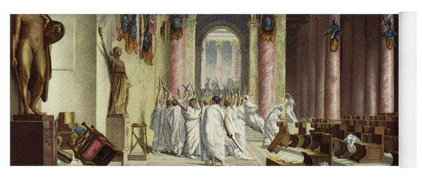 The Death Of Caesar Yoga Mat
