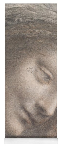 The Head Of The Virgin In Three-quarter View Facing Right Yoga Mat