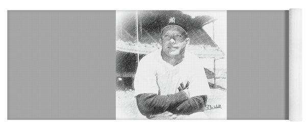 Mickey Mantle Yoga Mat