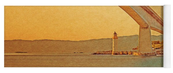 The Skye Bridge And Kyleakin Lighthouse Yoga Mat