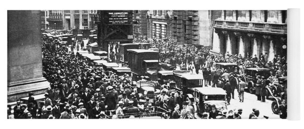 The Wall Street Crash 1929 Yoga Mat