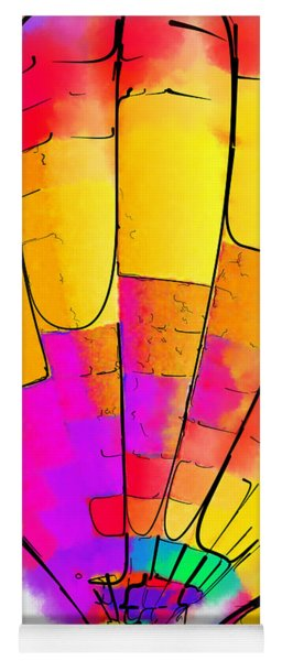 The Yellow And Red Balloon Yoga Mat