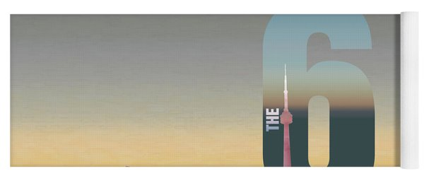 Toronto Skyline - The Six Yoga Mat