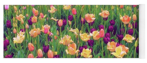 Tulip Field Yoga Mat