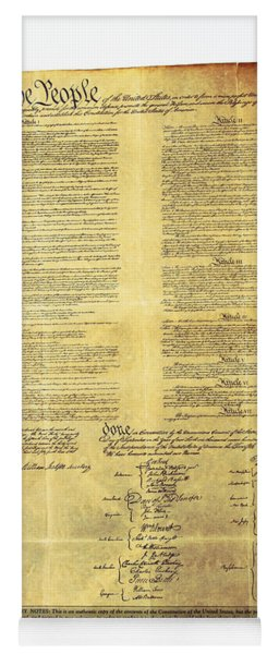 U.s Constitution Yoga Mat